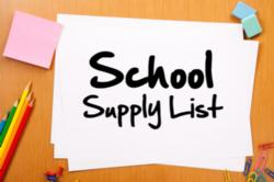 Supply List 2017-2018 School Year