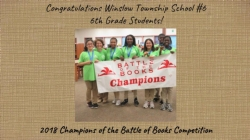 6th Grade Students from Winslow Township School #6 win Battle of the Books